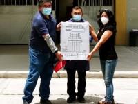 Předání jednotky úpravy vody pracovníkům univerzity v Tacně
